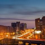 """Ночная Пермь """"Средняя дамба в огнях"""""""