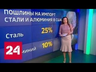Новости:  США установили пошлины на импорт стали и алюминия - Россия 24 - онлайн